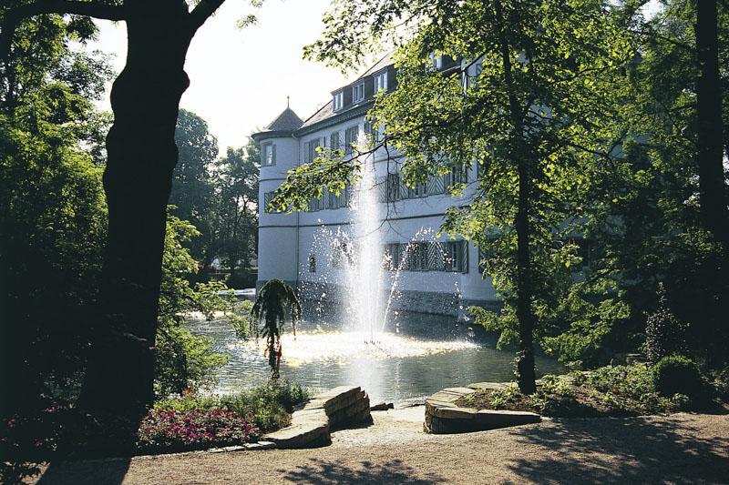 BR-Schlosspark-Wasserschloss - Sommer-Fontäne